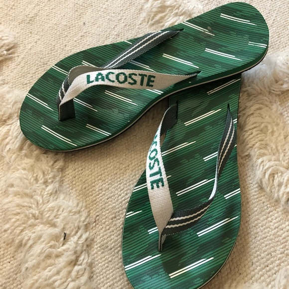 6dca3c2c44079 Lacoste Shoes - Men s Lacoste Flip Flops Size 10 1 2